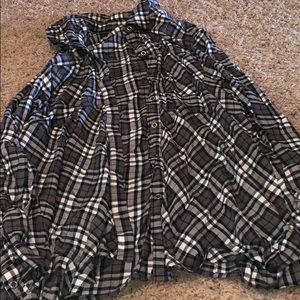 women westbound button down flannel size L